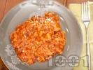 Рецепта Телешки език в доматен сос